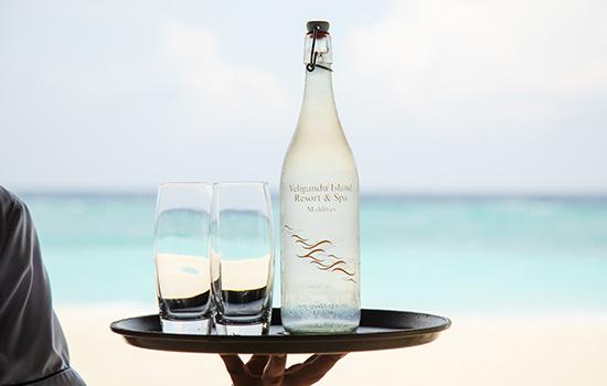 Veligandu Maldives' Sustainable Glass Water Bottles