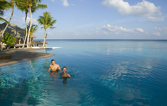 The Infinity Pool at Veligandu Maldives Resort