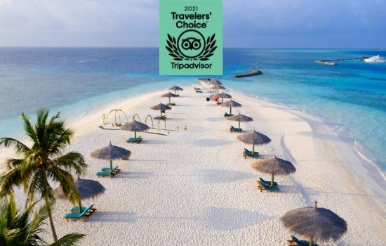 Veligandu Island Resort & Spa Wins 2021 Tripadvisor Travellers Choice Award