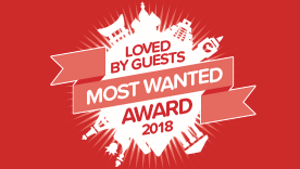 Hotels.com™ Loved By Guests Most Wanted Award, 2018, Worldwide