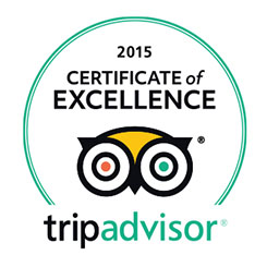 TripAdvisor Certificate of Excellence Award, 2015, Worldwide
